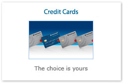 Credit Cards. The choice is yours.